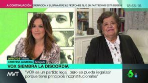 "(04-12-18) Cristina Almeida, sobre el discurso de Vox: ""Si echan a los migrantes, ¿quién va recoger la fruta de los invernaderos?"""