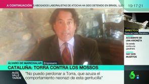 """(07-12-18) Álvaro de Marichalar, tras ser agredido en Girona: """"No puedo perdonar a Torra que azuza el comportamiento neonazi de esta gentucilla"""""""