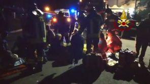 (08-12-18) El momento de la avalancha en el concierto de Italia que ha acabado con seis muertos y decenas de heridos