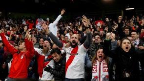 (10-12-18) La afición de River Plate celebra la Copa Libertadores en la Puerta del Sol