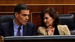 """(12-12-18) Sánchez advierte a Torra de que todo lo que se sitúe fuera de la Constitución tendrá """"una respuesta firme, serena y proporcional"""" del Estado"""