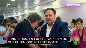 """(13-12-18) Junqueras, en exclusiva: """"Espero que el diálogo no esté roto"""""""