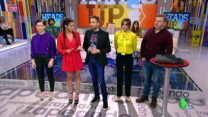"""(18-01-19) El 'Head's up musical' revoluciona a los zapeadores: """"Miki Nadal eres un paquete"""""""