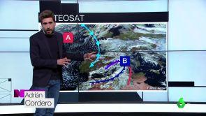 (20-01-19) Domingo con lluvias fuertes en el Cantábrico y nieve en montañas del norte