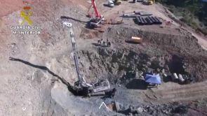 (22-01-19) Nuevas dificultades en el rescate de Julen: rellenan el tunel paralelo con arena y volveran a perforar